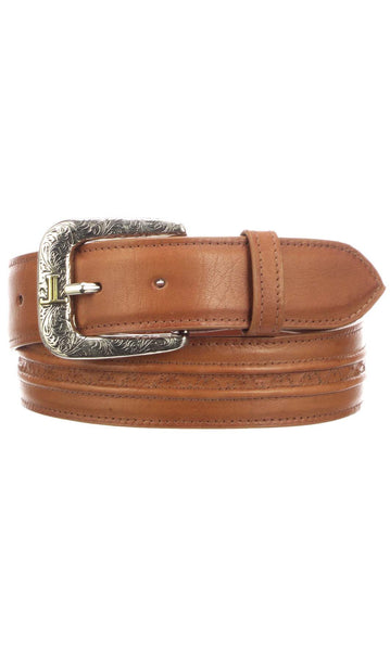 Lucchese W5261 Cognac Burnished Baby Buffalo Mens Belt