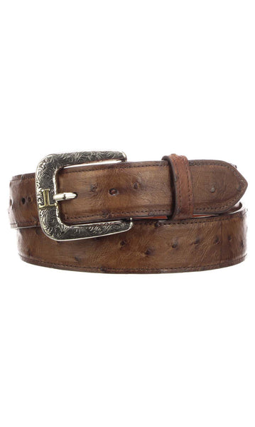 Lucchese W6141 Barnwood Full Quill Ostrich Mens Belt