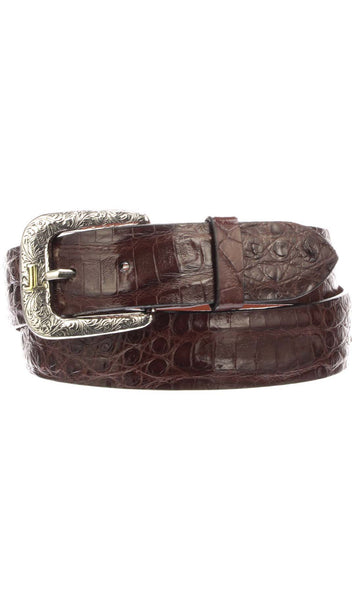 Lucchese W9411 Sienna Belly Caiman Crocodile Mens Belt
