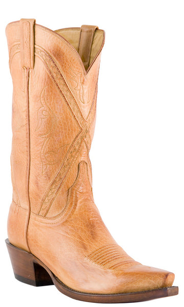 Lucchese Classics L1677 Mens Caramel Baby Buffalo Cowboy Boots