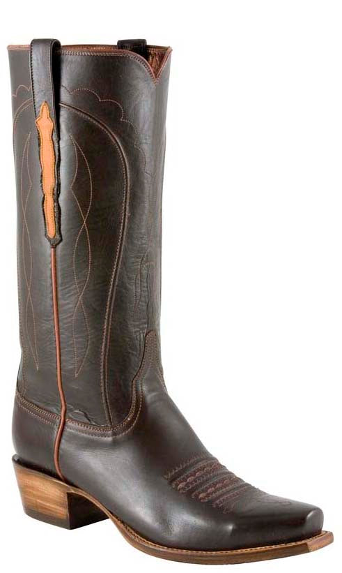 Lucchese L1680 Mens Chocolate Brown Glove Calfskin Classics Boots