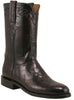 Lucchese L3020 Mens Black Cherry Brush Off American Alligator Belly Roper Classics Boots