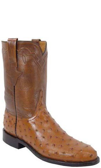 Lucchese Classics L3085.RR Mens Full Quill Ostrich Roper Boots
