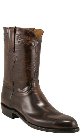Lucchese Classics L3519 Mens Brown Brush Off Goat Roper Boots
