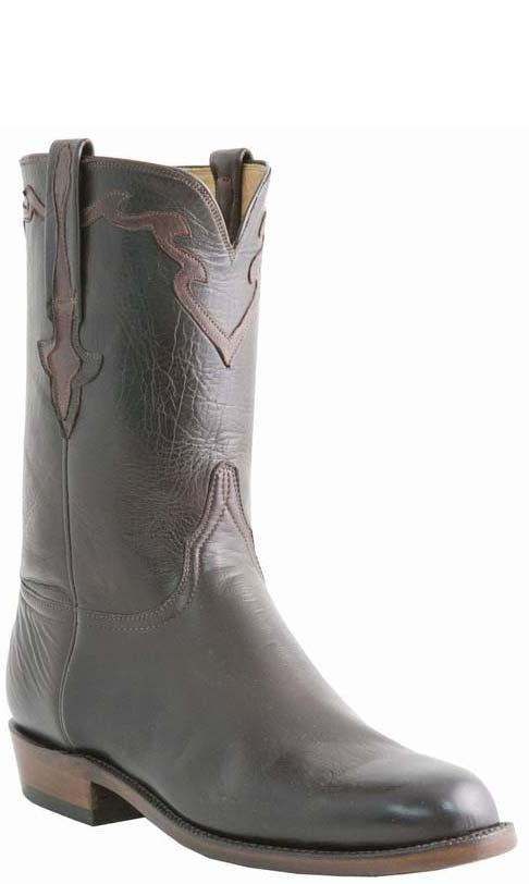 Lucchese Classics L3559 Mens Chocolate Baby Buffalo Cowboy Boots