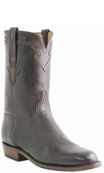Lucchese L3559 Mens Chocolate Baby Buffalo Cowboy Classics Boots