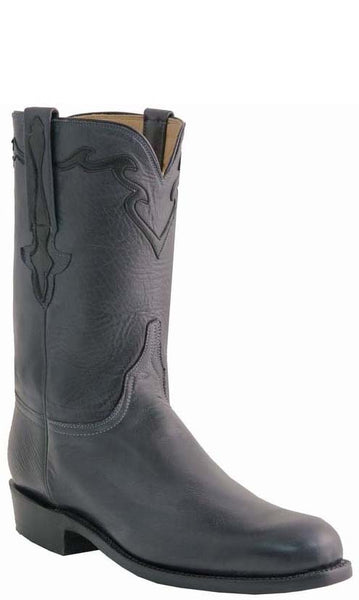 Lucchese L3560 Mens Navy Baby Buffalo Cowboy Classics Boots