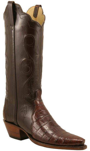 Lucchese L4127 Womens Sienna Crocodile Belly Classics Boots