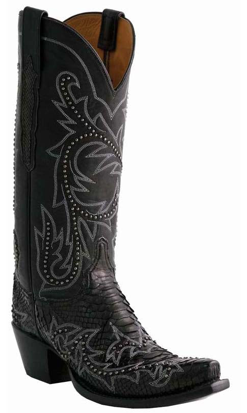 Lucchese Classics L4157 Womens Black Python Boots