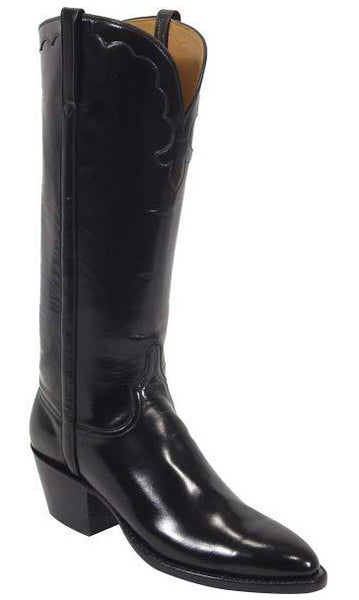 Lucchese L4505.73 Womens Black Goat Leather Classics Boots Size 8 B STALL STOCK
