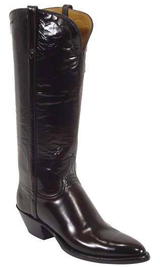 Lucchese L4506 Womens Black Cherry Goat Leather Classics Boots