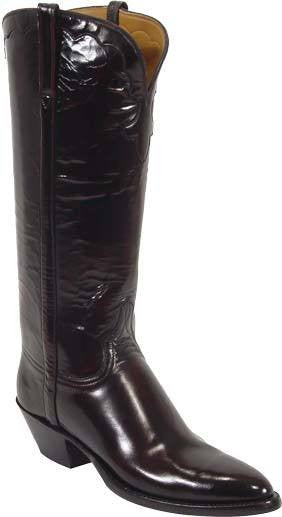 Lucchese Classics L4506 Womens Black Cherry Goat Leather Boots