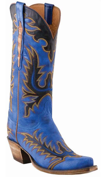 Lucchese L4728 Womens Nova Blue Destroyed Goat Classics Boots