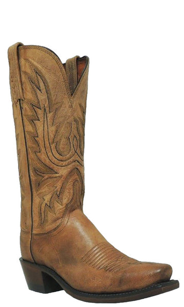 Lucchese Savannah N4540.74 Womens Tan Burnished Mad Dog Goat Boots