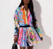 Load image into Gallery viewer, Vibrant skirt n shirt