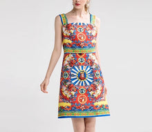 Load image into Gallery viewer, Retro Royal Print Dress