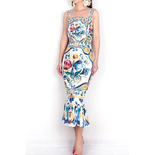 Load image into Gallery viewer, Procelain Print Dress
