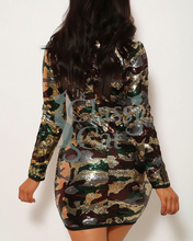 Load image into Gallery viewer, Fiit Camouflage Bodycon Dress