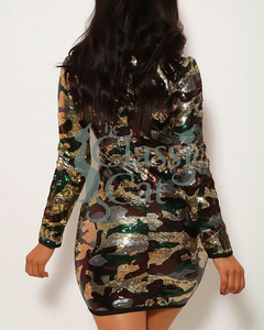 Fiit Camouflage Bodycon Dress