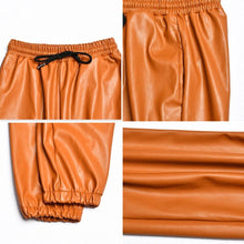 Load image into Gallery viewer, Tan Leather Jogger