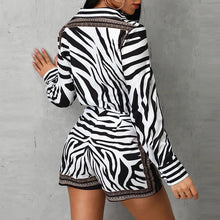 Load image into Gallery viewer, Zebra shirt & shorts!