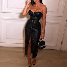 Load image into Gallery viewer, Sexy, leather (PU) Dress
