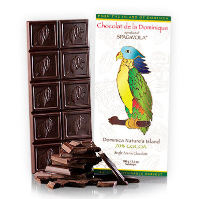 Chocolat de la Dominique - Dominica Nature's Island 70% Dark Chocolate