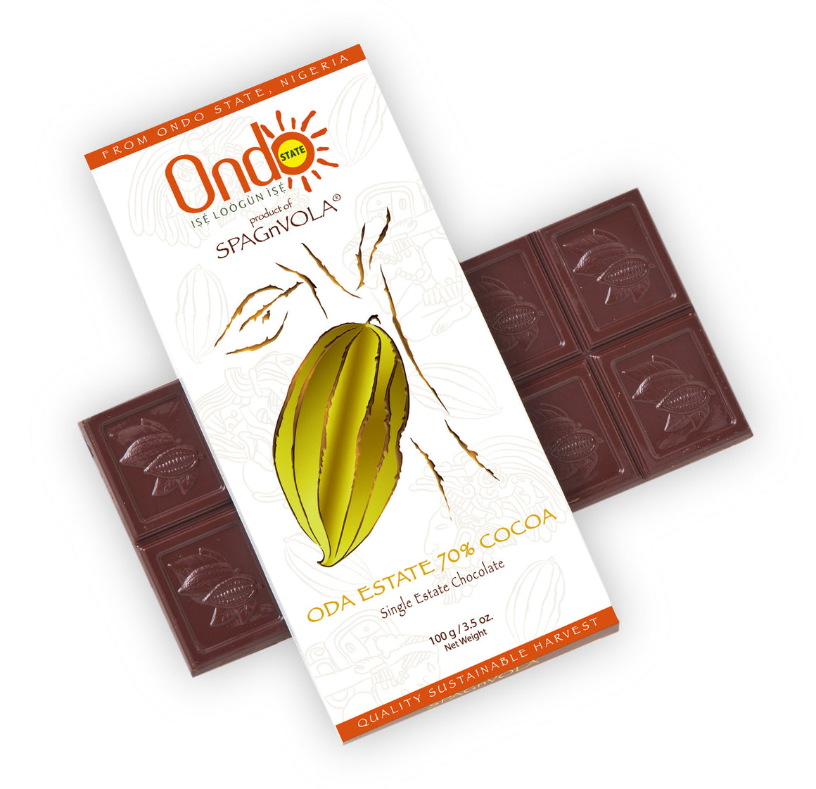 Exclusive and limited quantity - Award Winning Nigerian 70% Oda Cocoa Estate - Dark Chocolate Bar from Ondo State, Nigeria