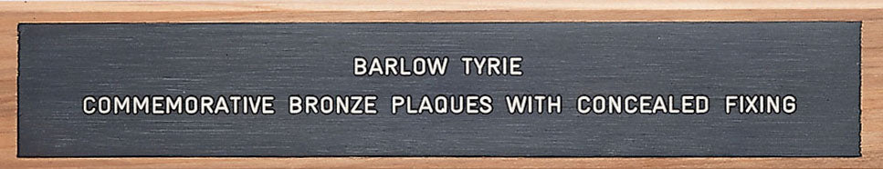 Barlow Tyrie Brass Plaque