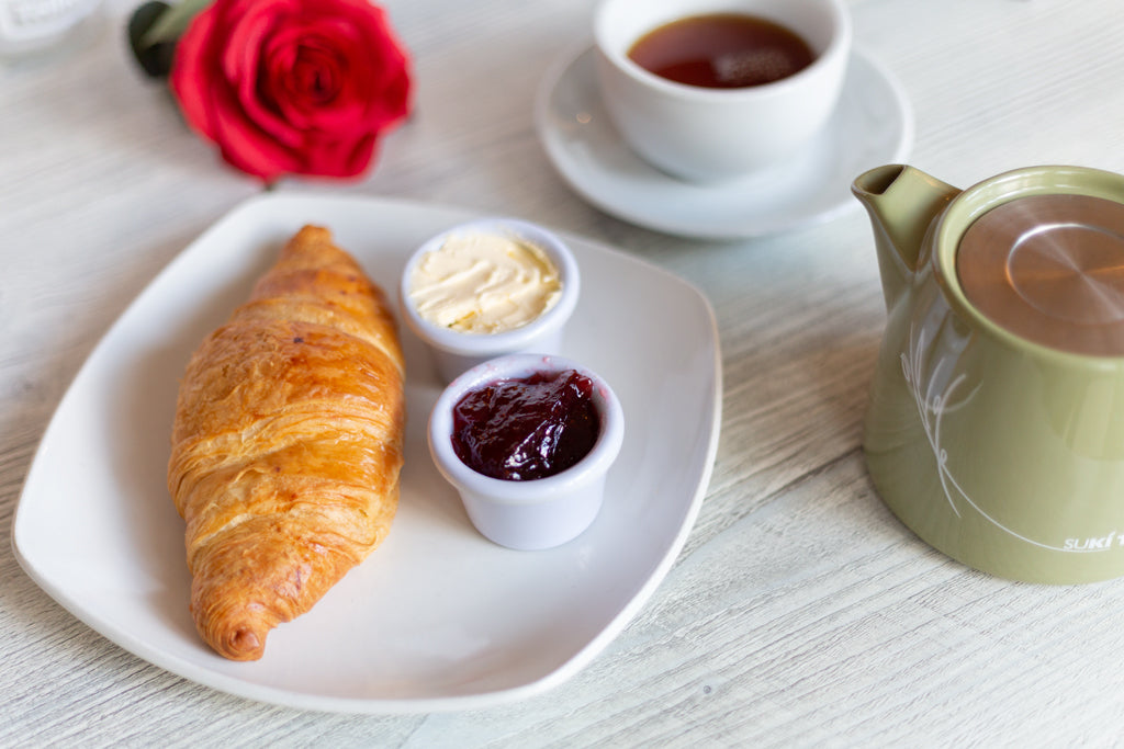 Mid Ulster Garden Centre Coffee Shop Croissant and Tea