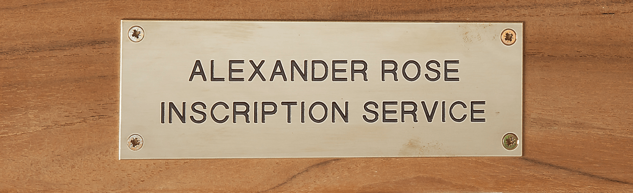 Alexander Rose Stainless Steel Plaque