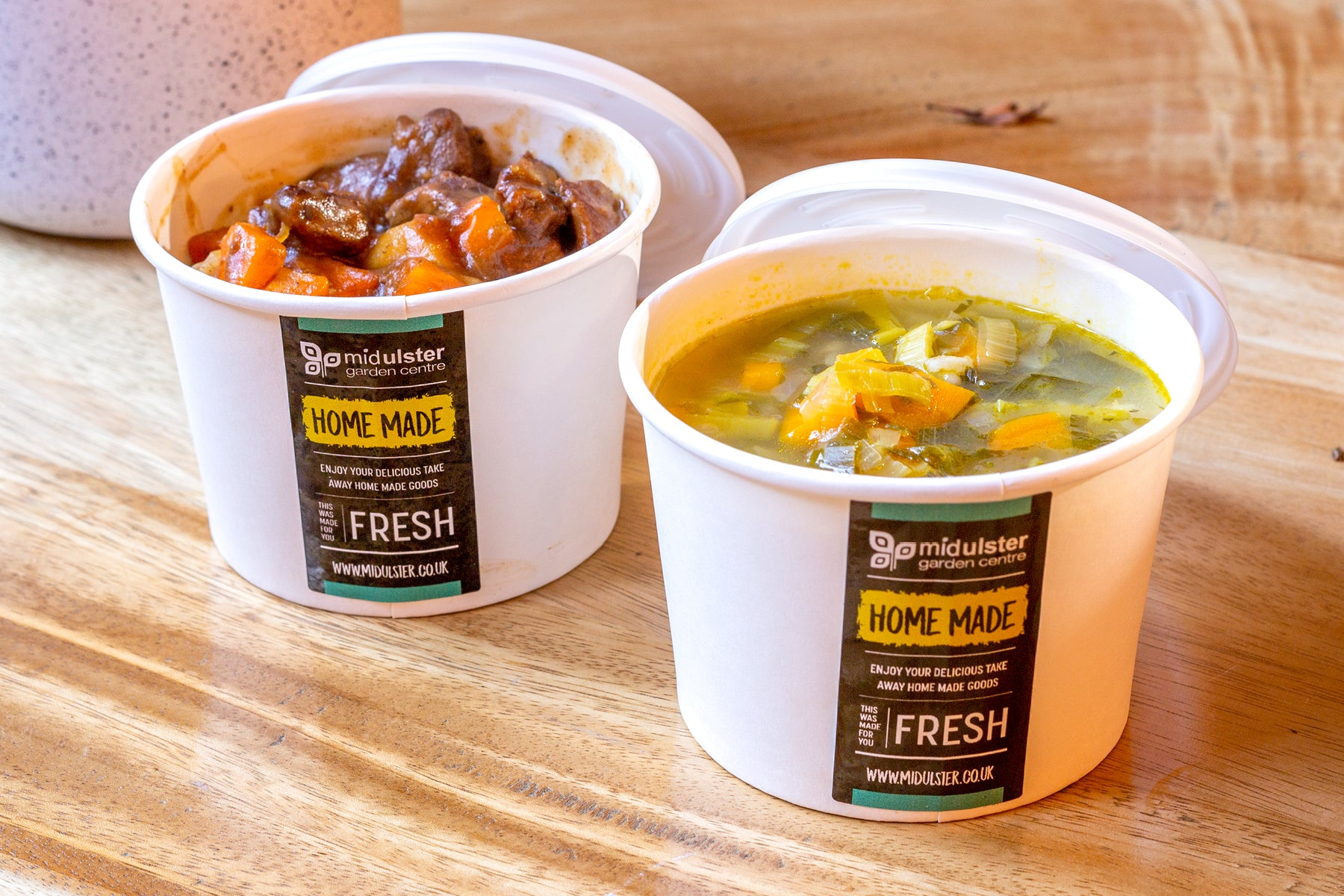 Mid Ulster Garden Centre Coffee Shop Take Away Soup and Stew