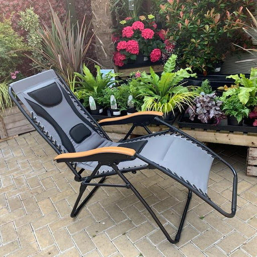 Mercer Garden Furniture Premium Zero Gravity Chair in Grey