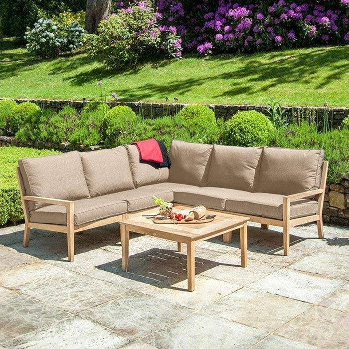 Alexander Rose Garden Furniture Oatmeal Alexander Rose Roble Garden Lounge Corner Set