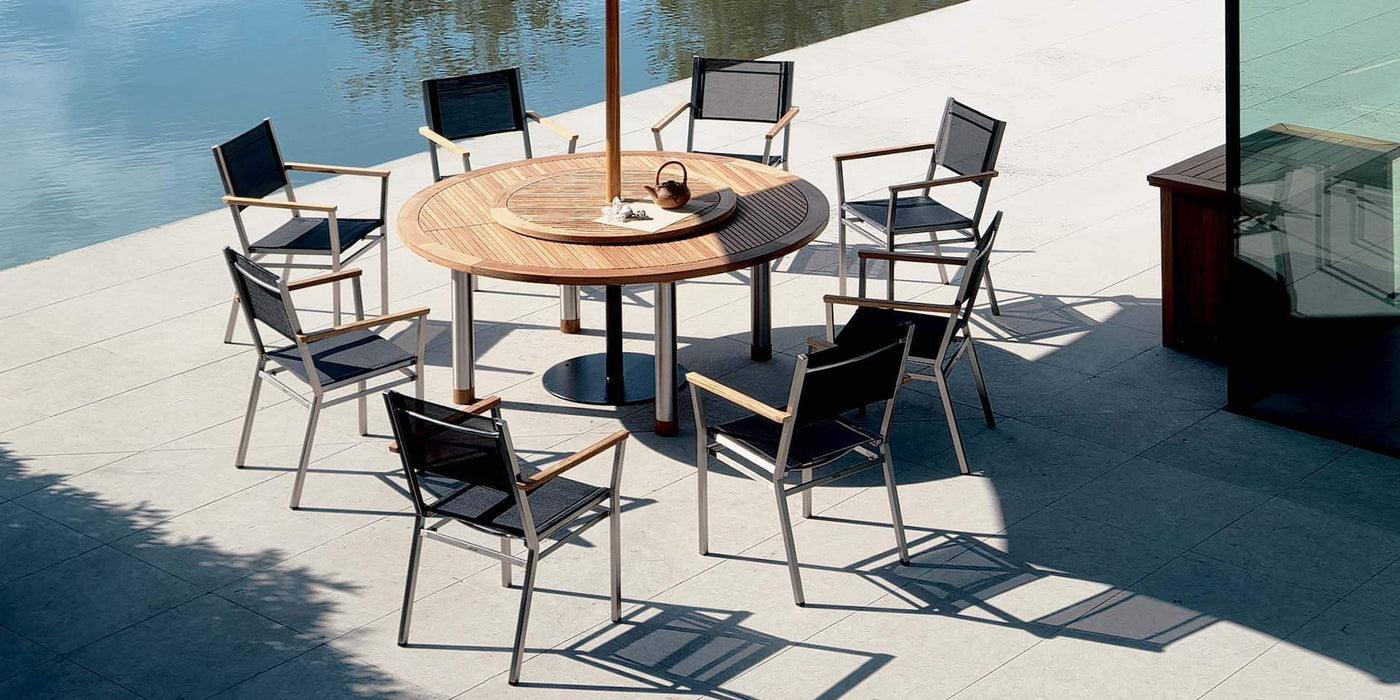 Barlow Tyrie Equinox 180cm Round Garden Table and Chairs Set - Mid Ulster Garden Centre, Ireland