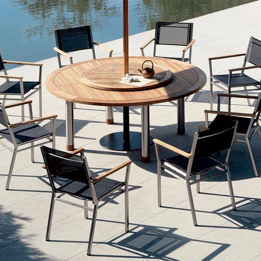Barlow Tyrie Garden Furniture Barlow Tyrie Equinox 180cm Round Garden Table and Chairs Set