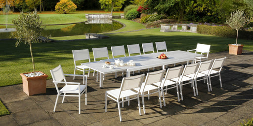 Barlow Tyrie Equinox 360cm Extending Dining Table set - Mid Ulster Garden Centre, Ireland