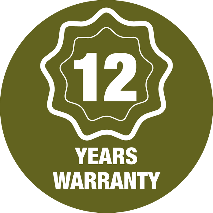 12 Year Warranty Guarantee
