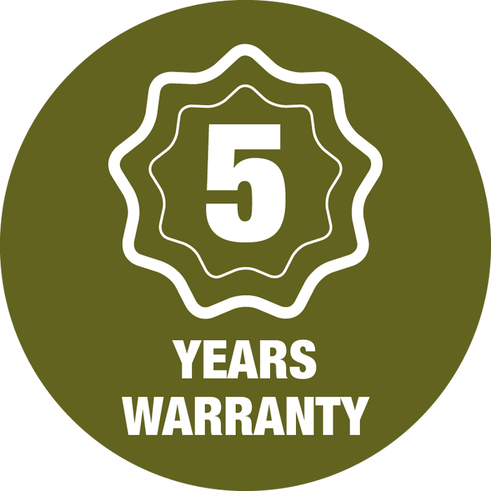 5 Year Warranty Guarantee