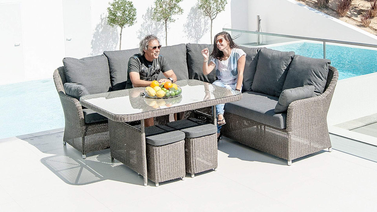 Alexander Rose Monte Carlo 6-Seater Corner and Cube Dining Set - Mid Ulster Garden Centre, Ireland