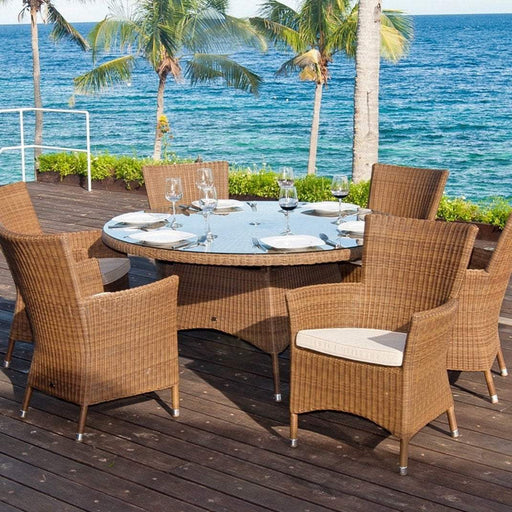 Alexander Rose Garden Furniture Alexander Rose San Marino 6-Seater Round Dining Set