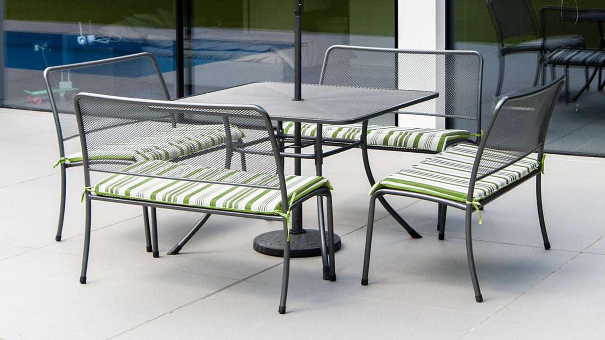 Alexander Rose Portofino 4-seater 1.1m Square Table Set - Mid Ulster Garden Centre, Ireland