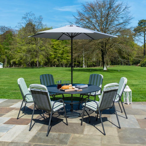 Alexander Rose Garden Furniture Alexander Rose Portofino 6-seater Stacking Armchair Round Table set