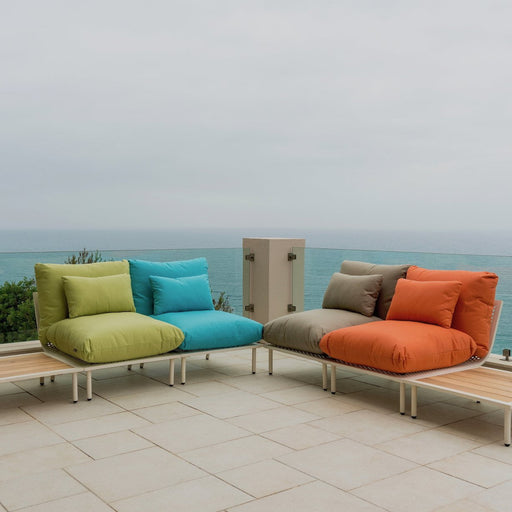 Alexander Rose Garden Furniture Alexander Rose Beach Lounge 4-Seater Multi-Colour Sofa and Small Side Tables Set