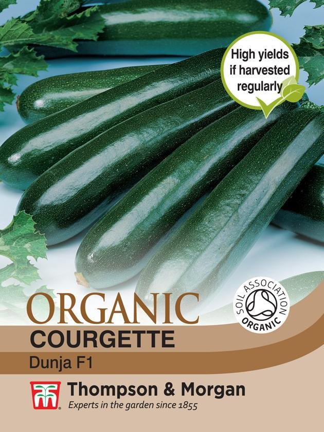 Thompson & Morgan (Uk) Ltd Gardening Courgette Dunja F1 Hybrid (Organic)