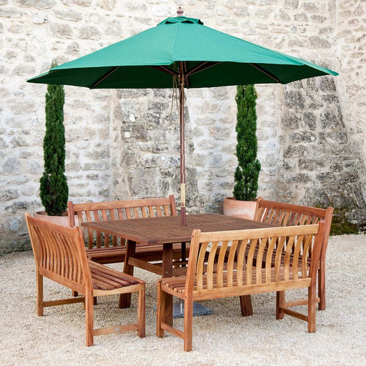 Alexander Rose - Cornis Square Dining Set with Benches