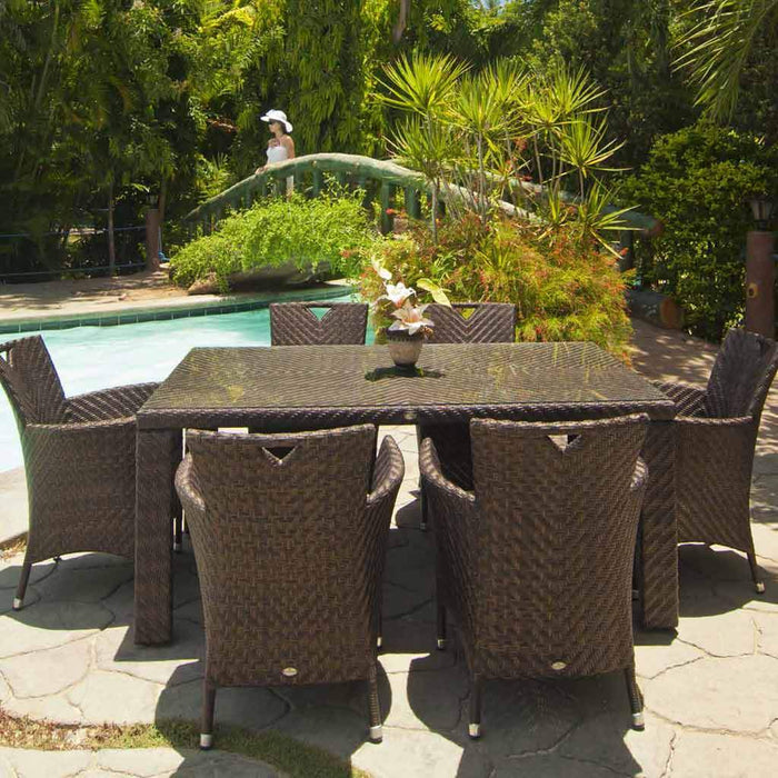 Alexander Rose Ocean Wave 6-seater Rectangular Dining Set - Mid Ulster Garden Centre, Ireland