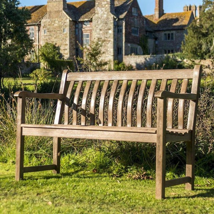 NEW Range Alexander Rose Sherwood Broadfield Garden Bench 4ft 334S In Situ