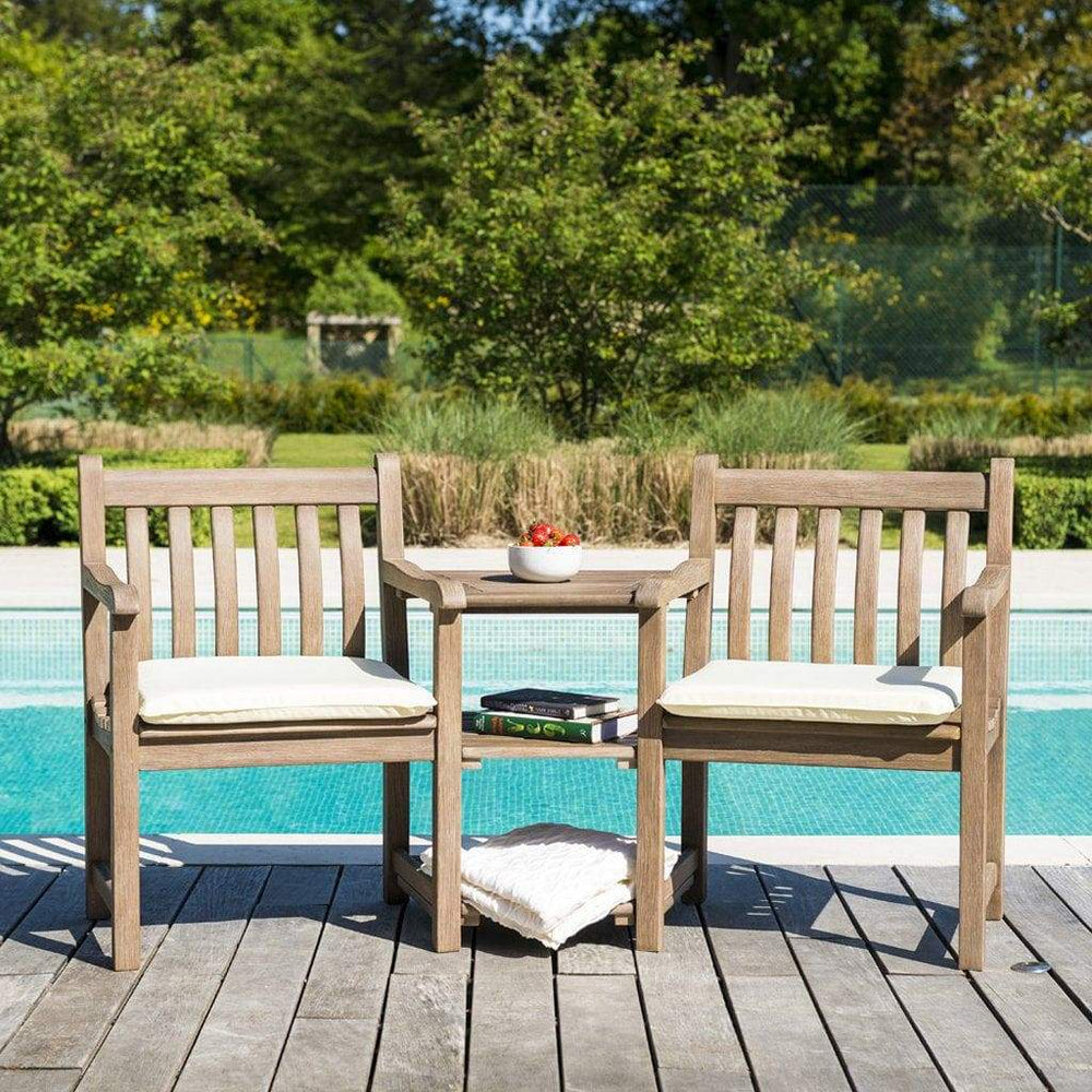 NEW Range Alexander Rose Sherwood Companion Outdoor Furniture Set 340S Image One