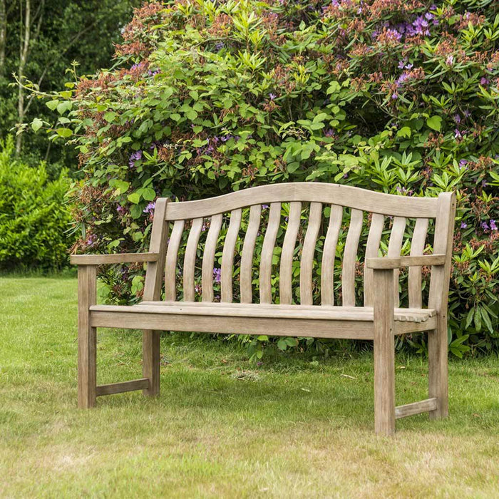 NEW Range Alexander Rose Sherwood Turnberry Wooden Patio Bench 5ft 322S on lawn